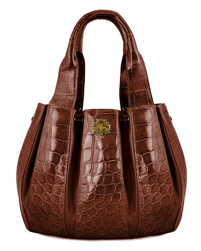 Julie Bag Crocodile Brown