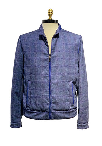 Cashmere Bomber Jacket Blue