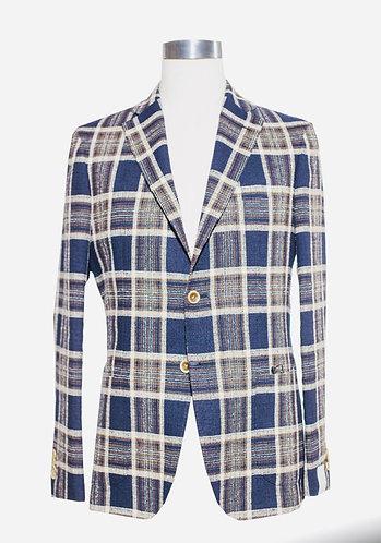 Single breast cotton/linen jacket