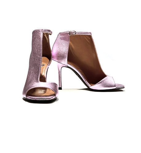 Glitter Leather Ankle Boots/Sandal Pink