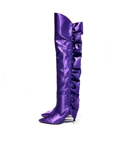 Satin Boots Purple