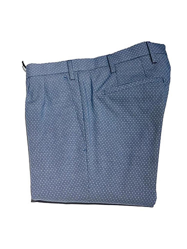 Cotton Pants - Made in Italy - Blue with White Dots