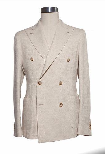 Double breast wool/cotton jacket