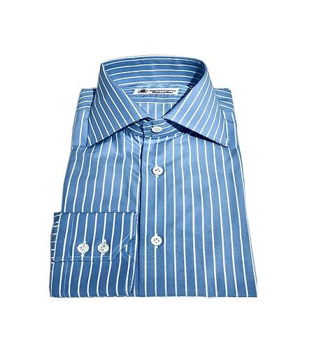 2 Button Shirt Light Blu & White Stripes