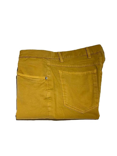 5 Pocket Stretch Cotton Pants - Made in Italy - Mustard
