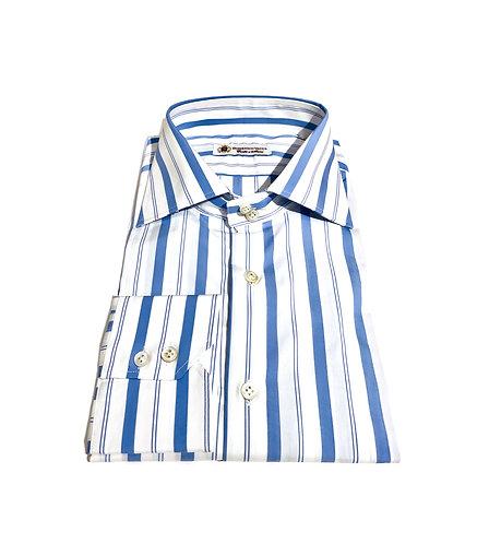2 Button Shirt Blu Stripes