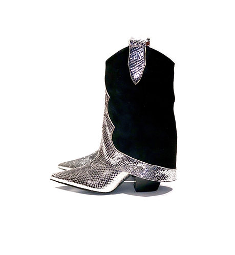 Ankle Boots Silver