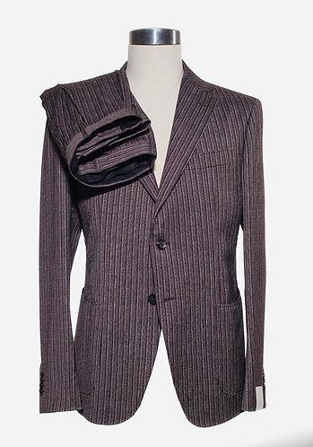 Single breast wool/cotton suit