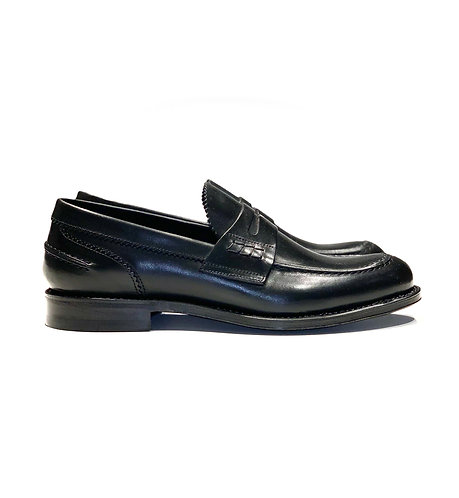 Leather Loafer Shoes Black