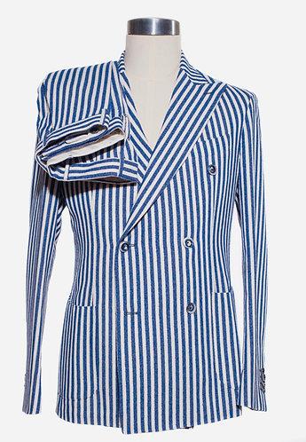 Double breast cotton suit