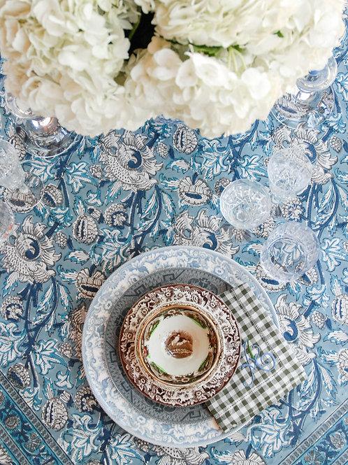 Parker Block-Print Tablecloth