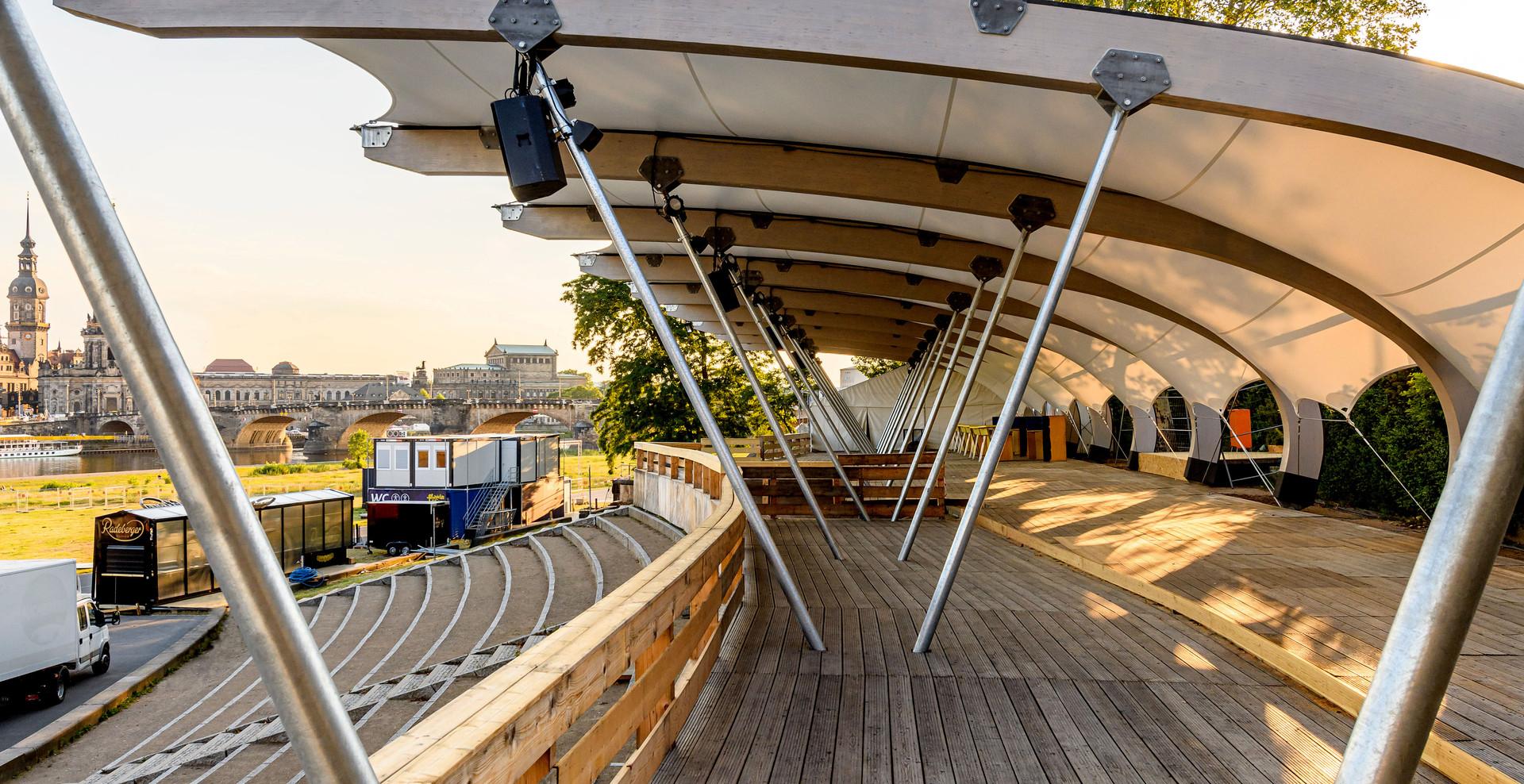 Membrane roof Dresden - Filmnächten