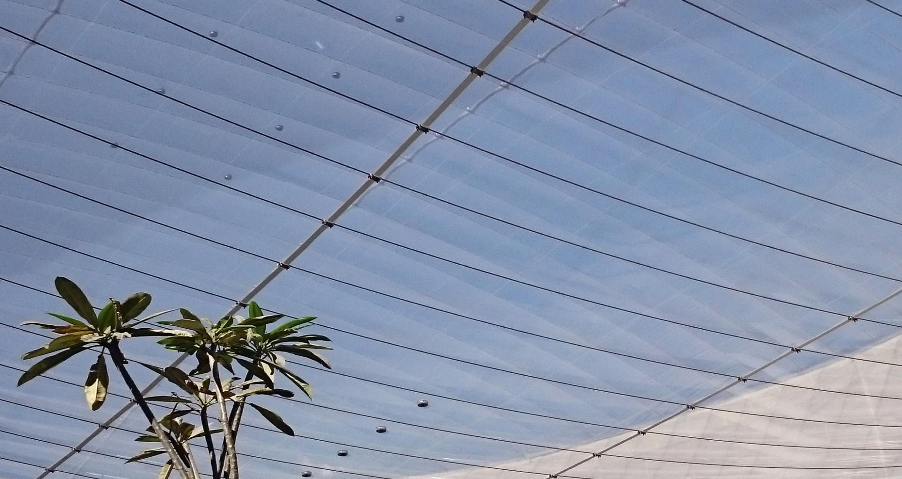 3dtex ETFE ROOF cable reinforced La Vict