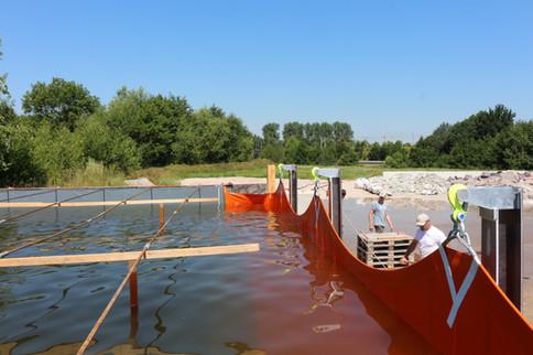 Hochwasserschutz mit Membran