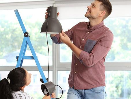 Cómo instalar una lámpara de techo
