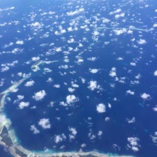 Peros Bahnos atoll from the air