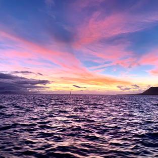 Sunset over La Graciosa Marine Reserve