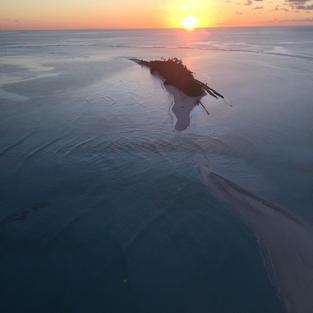 Sunrise over Peros Bahnos (BIOT MPA)