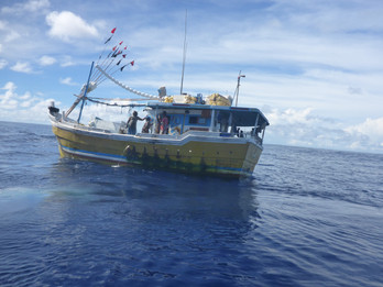 Illegal, Unreported and Unregulated (IUU) fishing vessel in BIOT