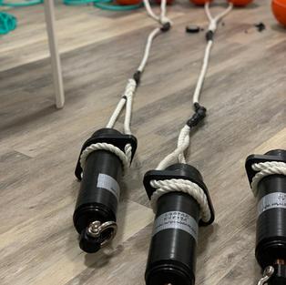 Acoustic release receiver moorings