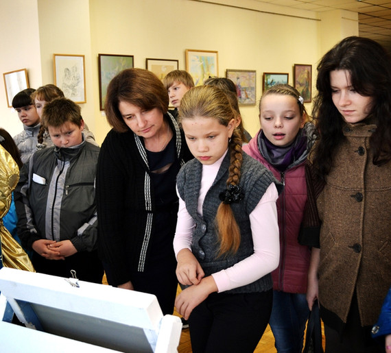 Целуевская Елена Валентиновна с учащимис