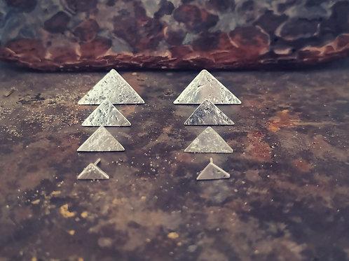 Silver triangular studs