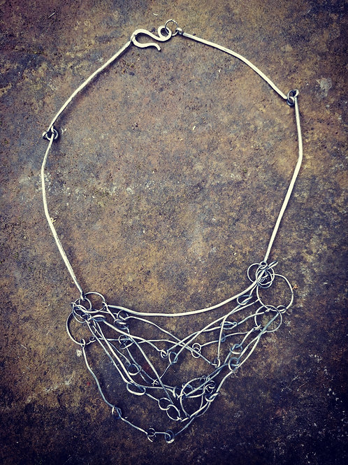 Urban style silver necklace