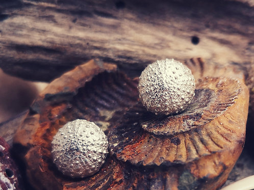 Sterling Silver Sea Urchin Studs