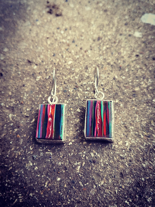 Sterling silver & Surfite Earrings