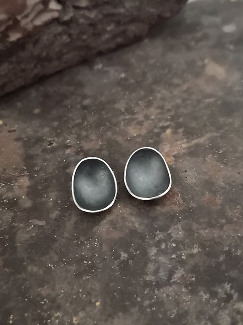 Sterling Silver Concave Studs