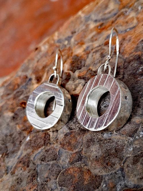 Hollow Form  Circular Earrings