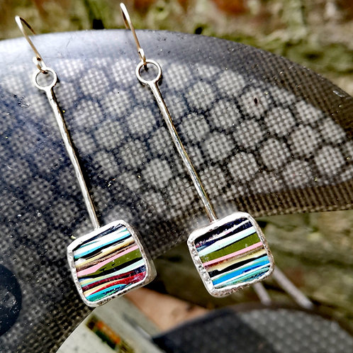 Sterling silver & Surfite Earrings