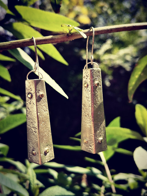 Contemporary Silver & Gold Earrings