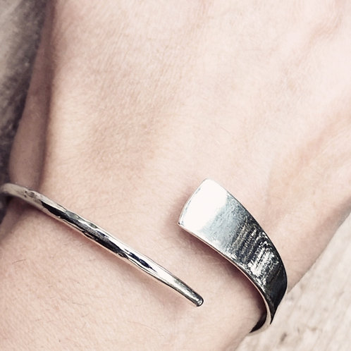 Solid Sterling silver Hand Forged bangle