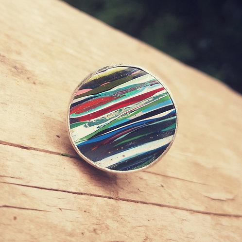 Surfite & Sterling Silver Ring