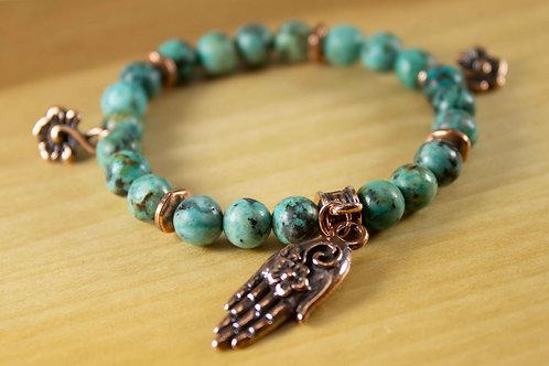Turquoise Generous Soul Charm Bracelet