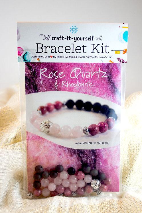 Rose Quartz Bracelet Kit