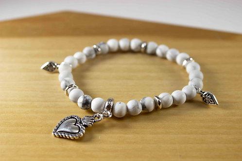 Howlite Milagro Heart Bracelet