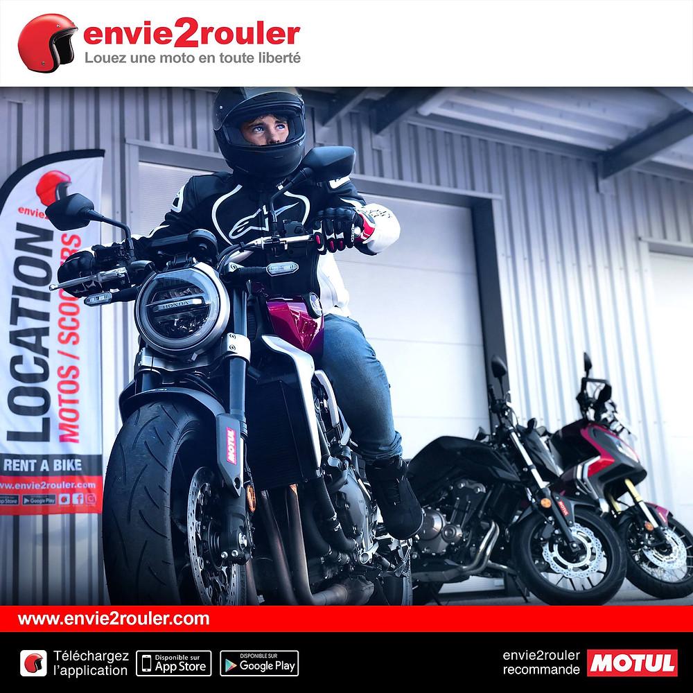 Affichage envie2rouler location moto