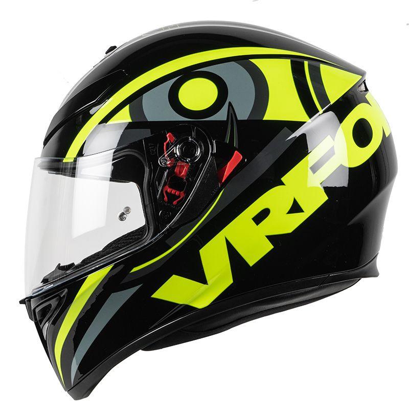 casque moto vrf noir jaune