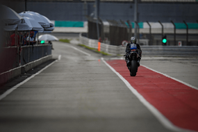 straight line on motorcycle track