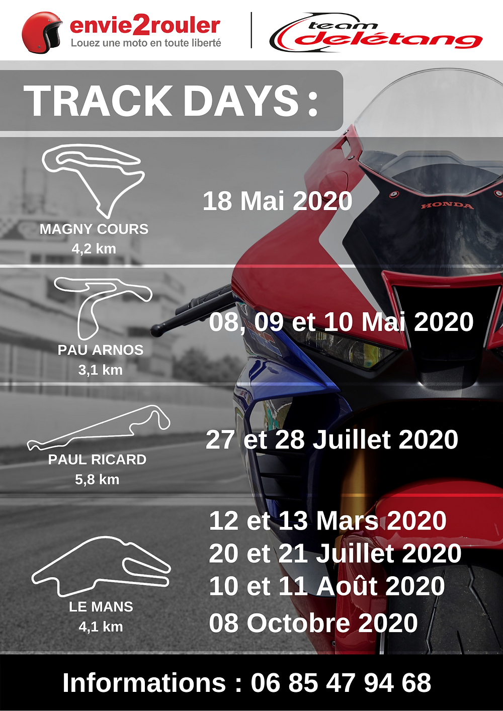 flyer envie2rouler track days