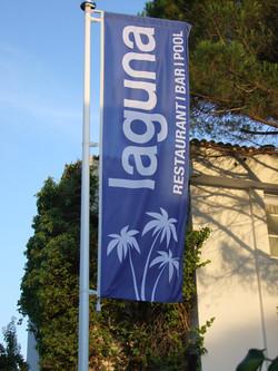 Flag at laguna