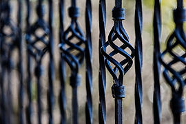 Wrought Iron, iron work, flower, bend