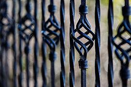 Wrought Iron, iron work, flower, bend