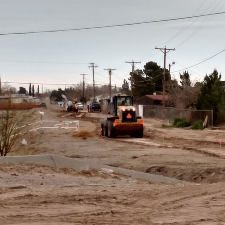 Playa Drain Construction Beginning
