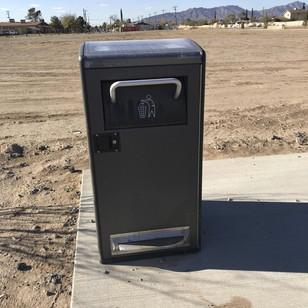 Trash Receptacle with Pet Waste Dispenser