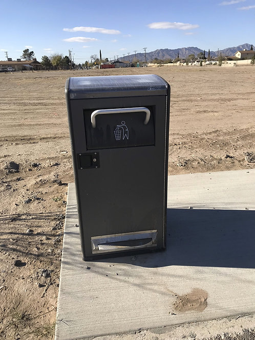 Trash Receptacle with Pet Waste Dispenser