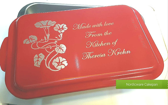 Red Personalized  9 x 13 Cake Pan by Nordic Ware