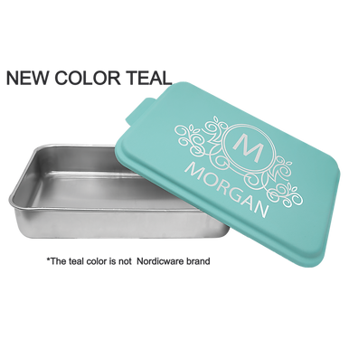 Teal Personalized  9 x 13 Cake Pan Non Branded